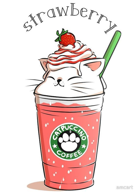 Pin by weng z on starbucks wallpper kawaii drawings - Kawaii food wallpaper ...
