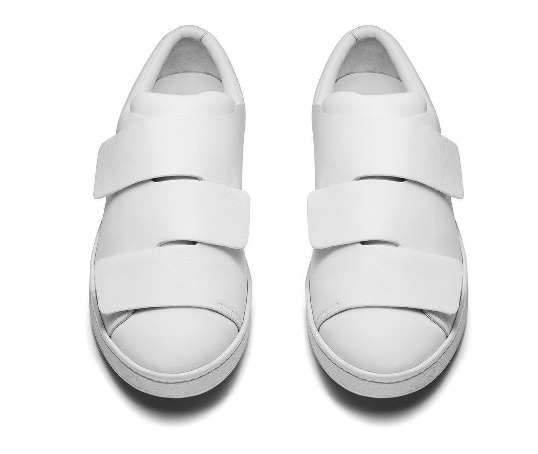 ad35de69b4c0 Acne Studios Triple white Velcro sneakers   Things I wanna wear ...