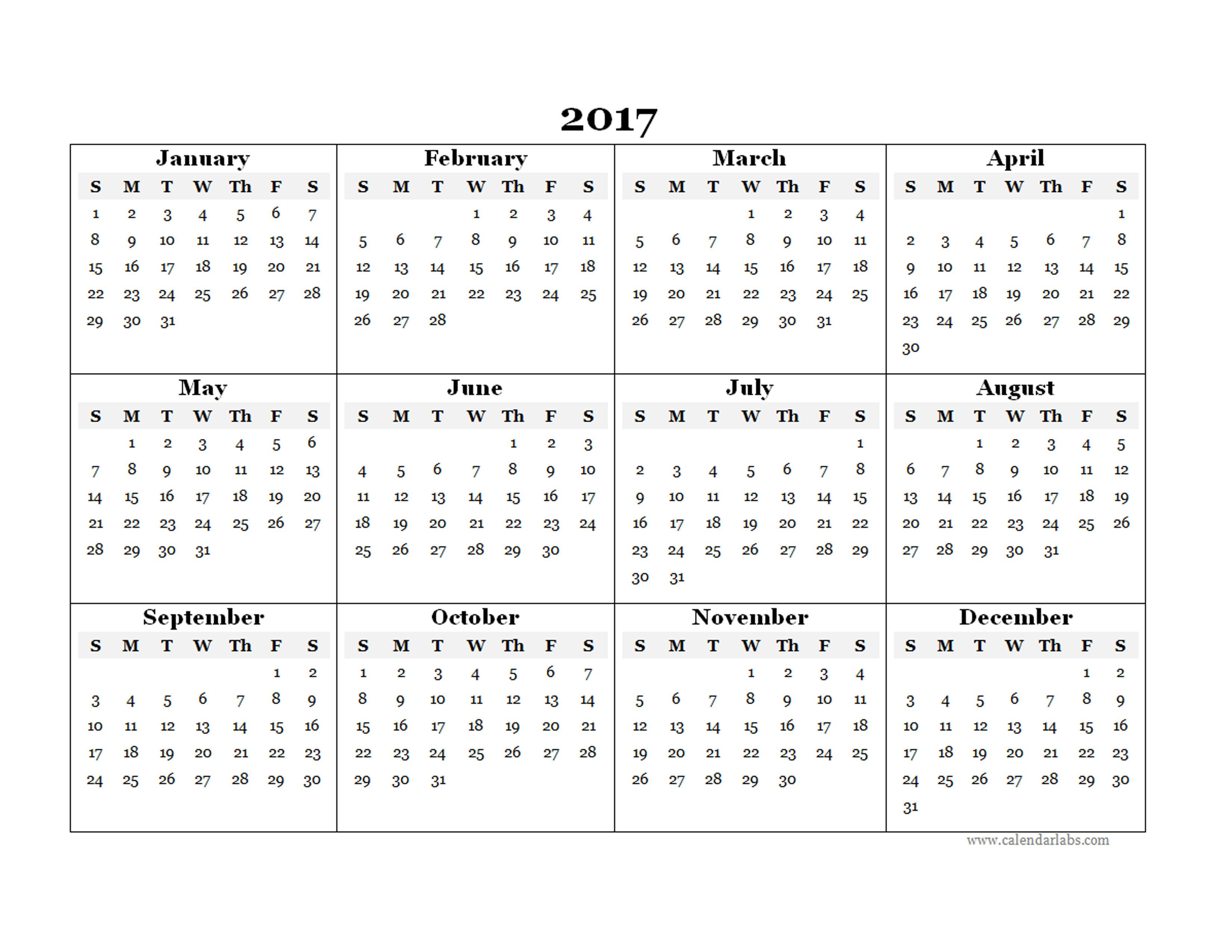free yearly calendar templates