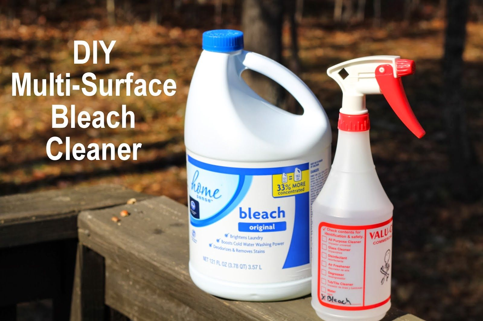 Diy multisurface bleach cleaner with images easy