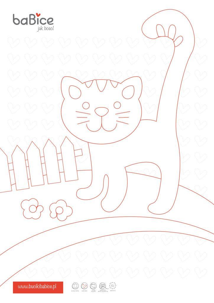 Malvorlage mit baBice Kätzchen für Kinder. Kostenfreies Ausmalbild ...