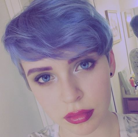 We saw this #GORGEOUS pic of @sheadelrey and immediately knew we had to #repost. This #beauty used our #UltraViolet on her #pretty #pixie #cut, and it looks a little bit faded, since the #color is closer to our lighter #tint, #LieLocks. Here's the thing you'll never believe--this dollface is only 14 years old! We wish we were this cool at that age! Keep it up, girl! You're killing it!