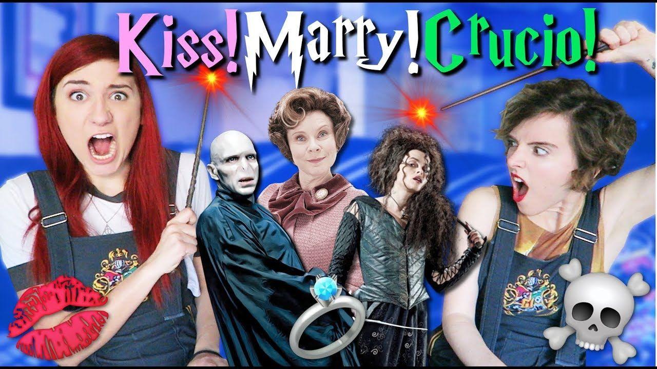 Kiss Marry Crucio Harry Potter Kiss Marry Kill Ft Tessa Netting Harry Potter Kiss Harry Potter History Youtube