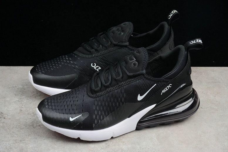 064a12b7eb6e 2018 Discount Unisex Nike Air Max 270 Flyknit Black White AH8050-002 Sneaker