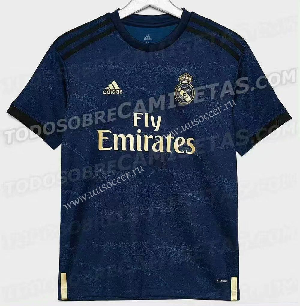 2019 2020 Real Madrid Away Blue Thailand Soccer Jersey Aaa Real Madrid Real Madrid Blue Jersey