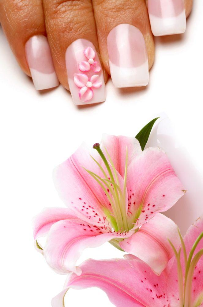 Flower Nail Art   Expensive Nails   Pinterest   Flower nail art ...