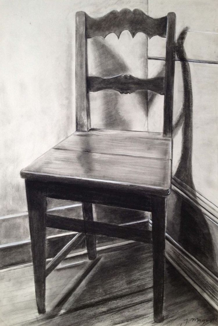 Shaded Chair Drawing 11 8 Chair Drawing Art Chair Deco Chairs