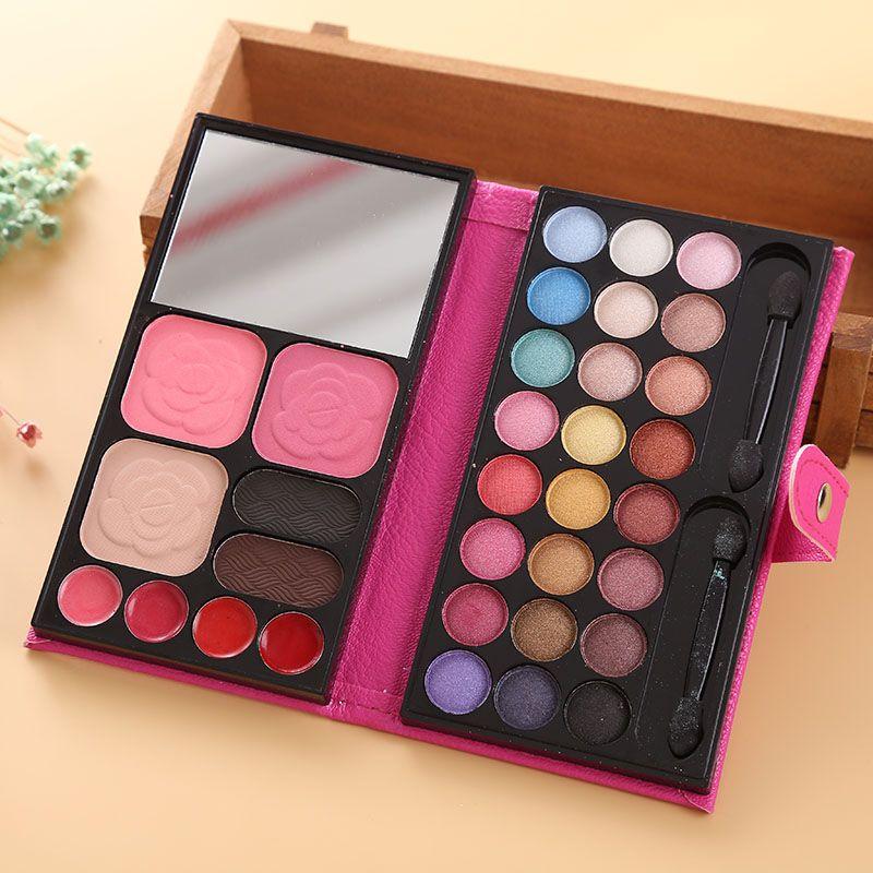 1pcs PU Leather 33 Colours Eye Shadow Blusher Lipstick Collection Contour Palette Makeup Set Kit 3 Colors 290f22e2-5ed0-47b5-a951-27b998b6aa5f Makeup Sets
