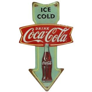 Open Road Brands Ice Cold Drink Coca Cola Embossed Tin