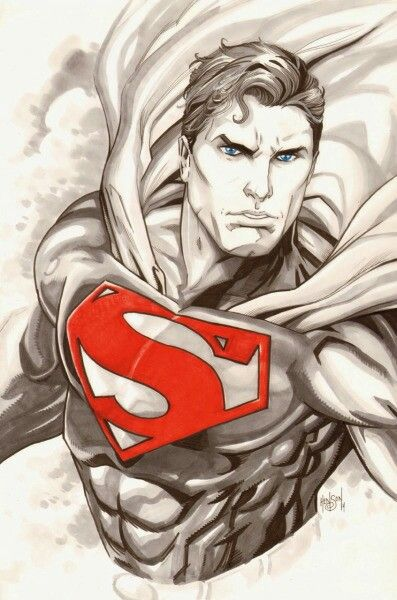 Wow this is an awesome drawing on superman super hero arte