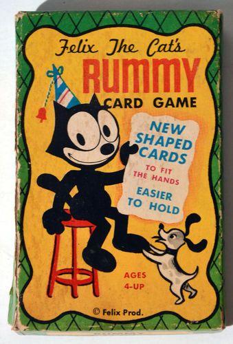 Felix The Cat Rummy Cards Felix The Cats Rummy Card Game Felix