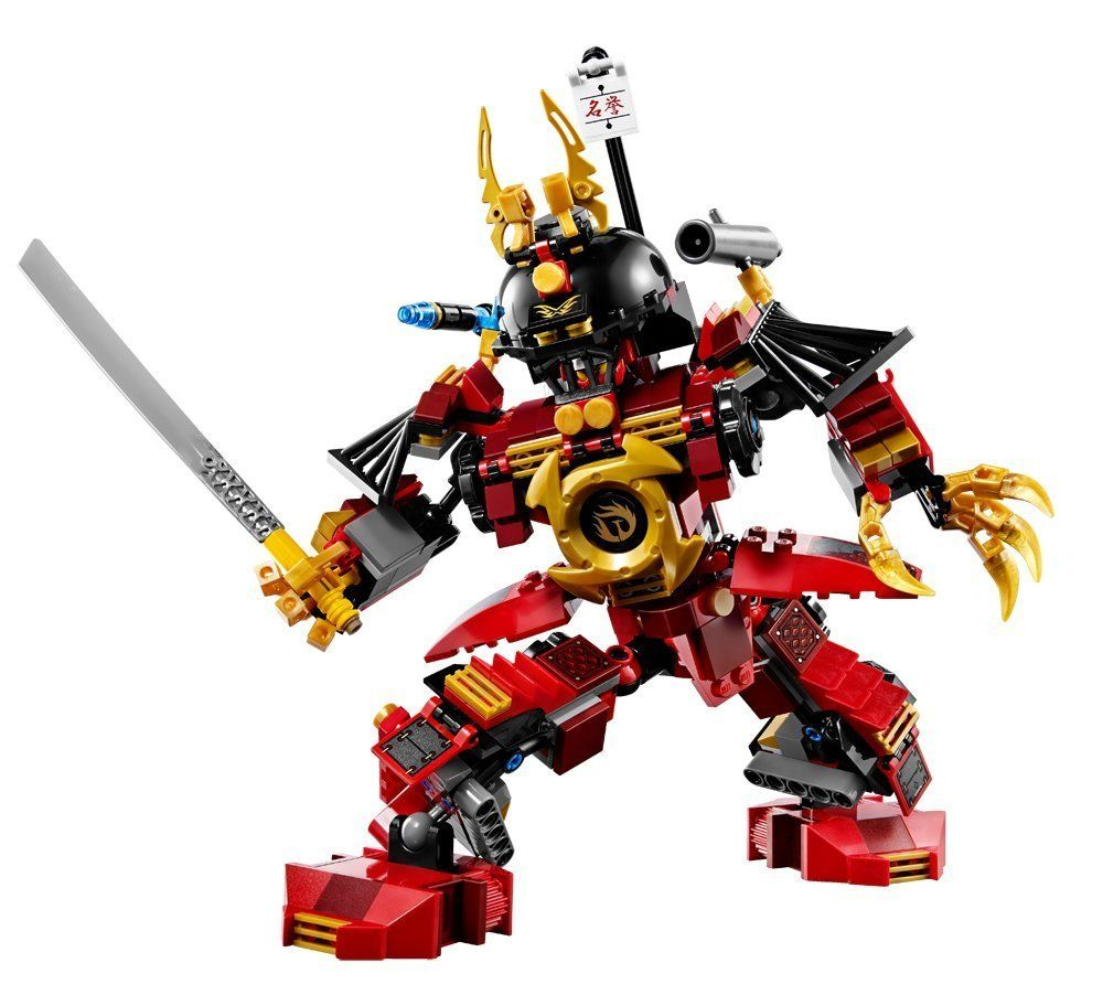 lego ninjago samurai mech 9448 pieces stand up against the constrictai snakes and fight for the fang blade with the mighty samurai mechs blades
