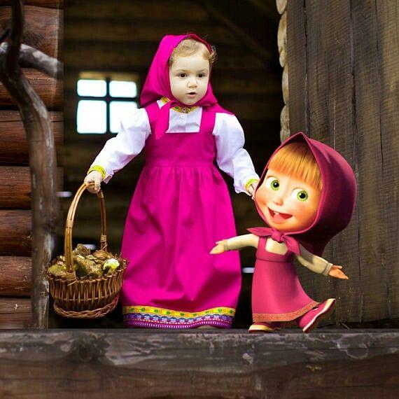 Kleid Mascha und der Bär Kinder-Mottogeburtstag | masha ...