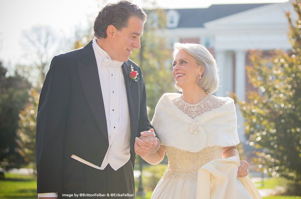 Each marriage holds special memories. Robert and Nancy