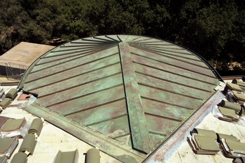 Copper standing seam roofs concord sheet metal copper for Standing seam copper