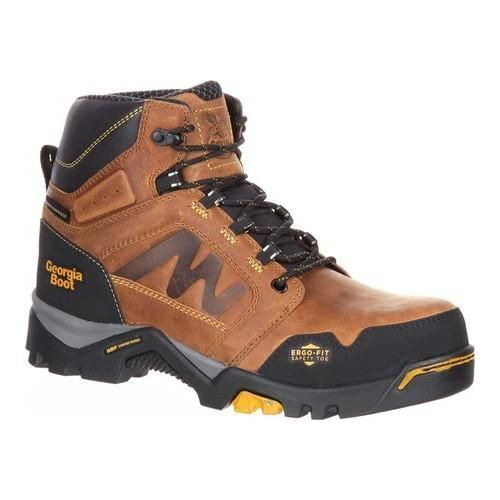 Men's Georgia Boot Amplitude Waterproof Work Boot Trail Crazy Horse | boots  | Pinterest | Georgia boots and Crazy horse