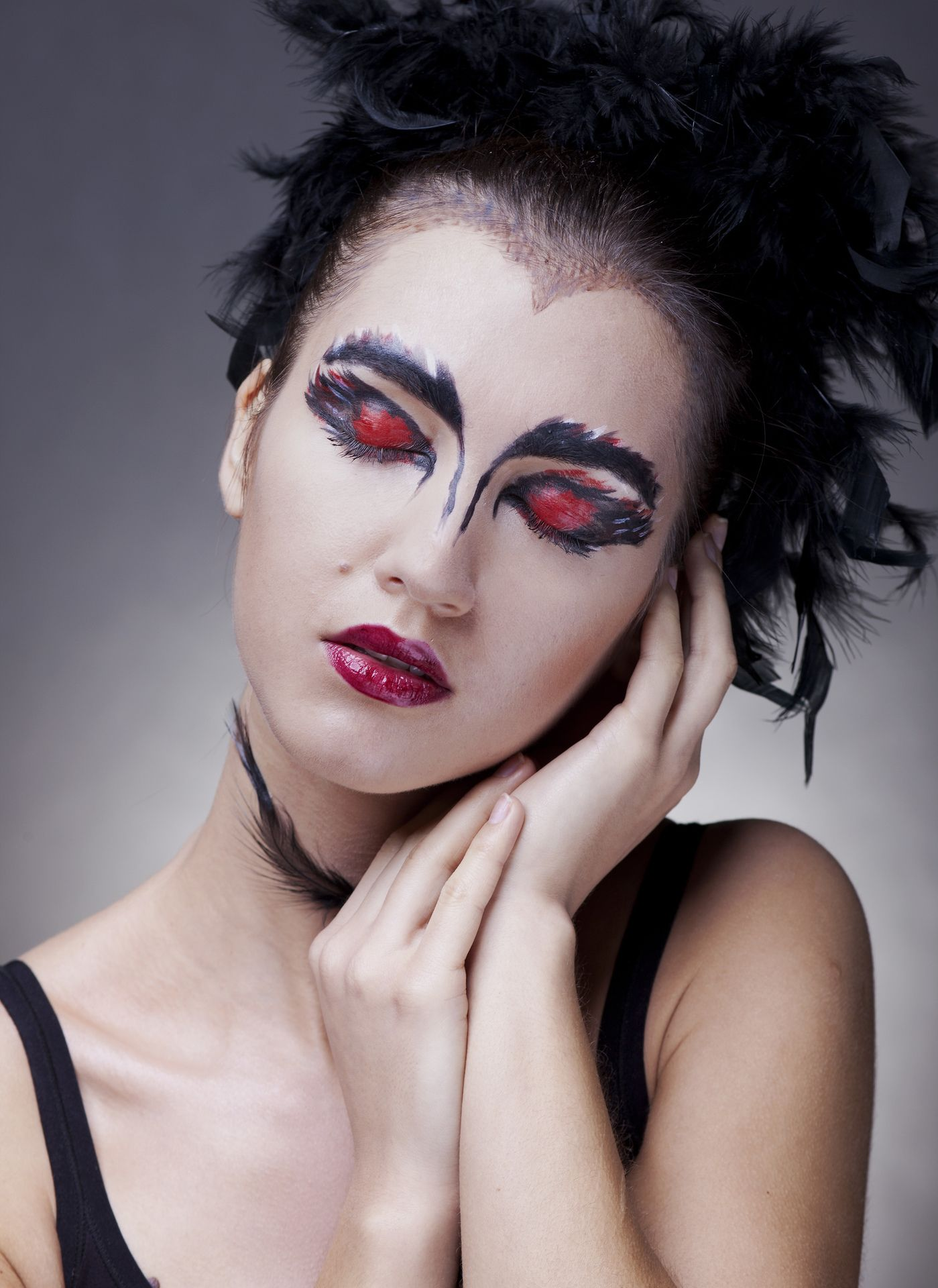 Ballet stage makeup, The Black Swan, dancer, classical