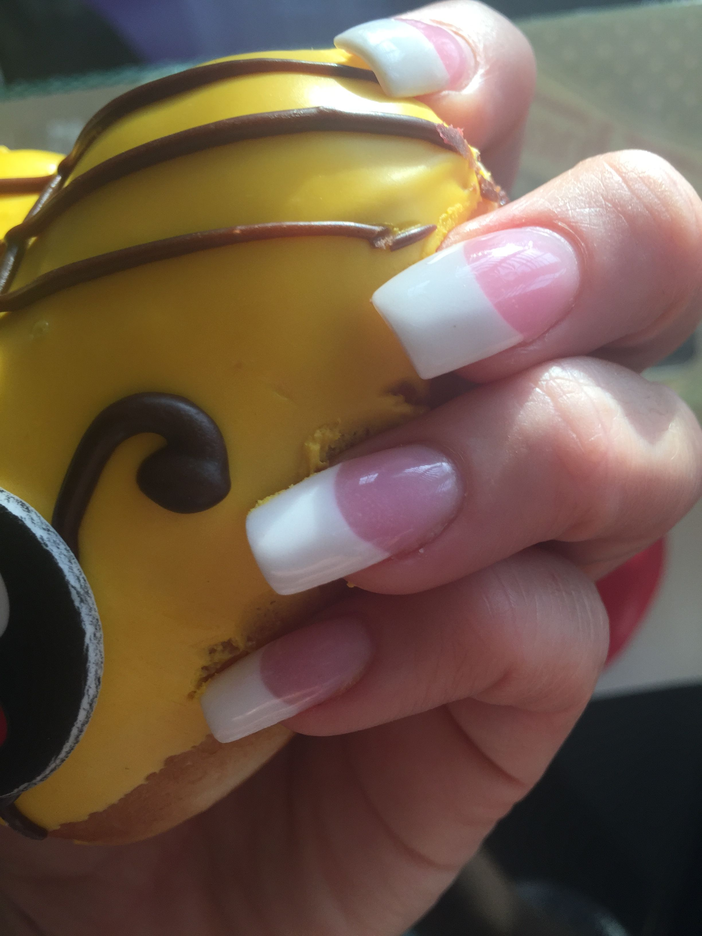 Pink & White acrylic nails | 7. Double Team + Dynamicpunch Pink ...