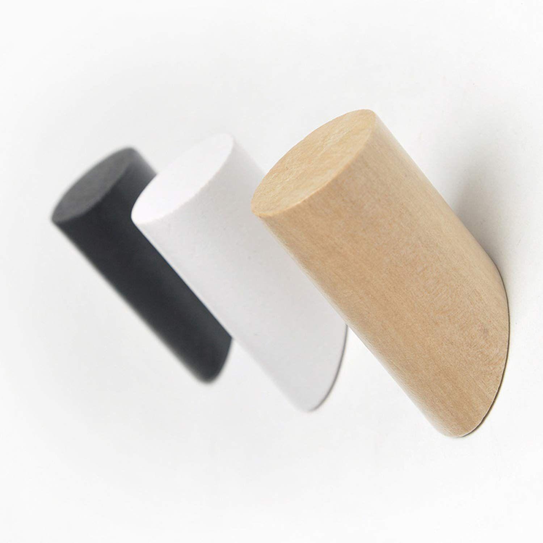 Minimalist Simple Wooden Hanger Hook Set In 2020 Wooden Hangers Wood Clothes Wood Hooks