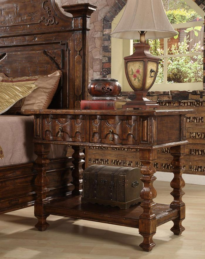 Burgundy 2 Drawer Nightstand Home furniture online