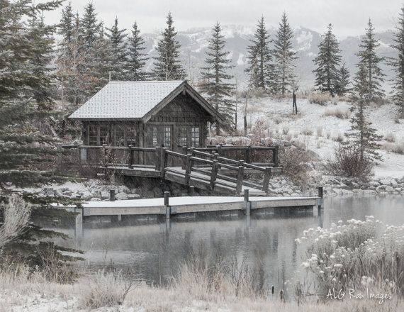 Lake House In Park City Ut During The First Winter Snow Storm Photo By Alg Ra Winter Landscape Photography Sunset Landscape Photography Landscape Photography