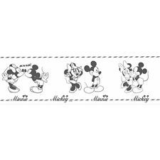 Disney Deco 3506-1 Tapete Bordüre Mickey & Minnie Mouse weiß ...