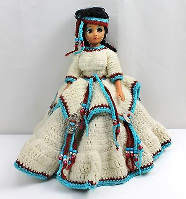 "Indian Princess IV crochet outfit booklet for 14.5/"" tall doll by Fibre Craft"