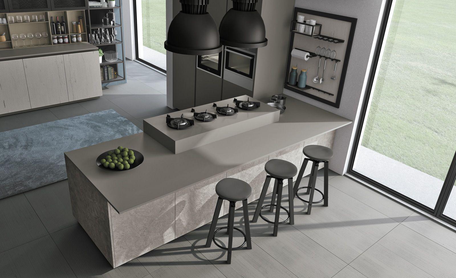 Piani di lavoro innovativi per la cucina snack cemento - Piani cucina cemento ...