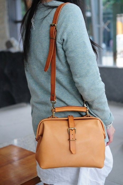 Hand stitched leather doctor bag, by Artemis Leatherware.