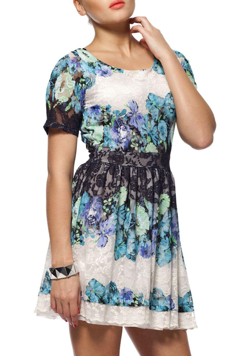 FERVENCY Dahlia Dress in Navy. $29.99