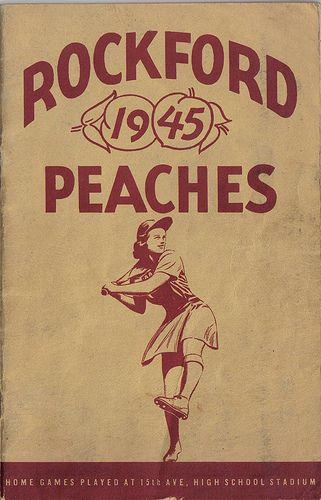 Photo of Rockford Peaches 1945 Program Cover