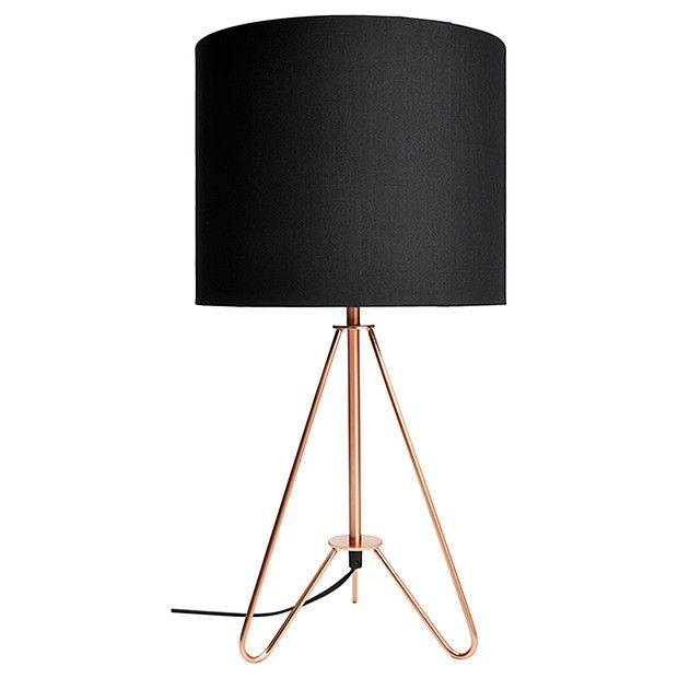 Copper Tripod Table Lamp | Tripod table lamp, Tripod and Bedrooms