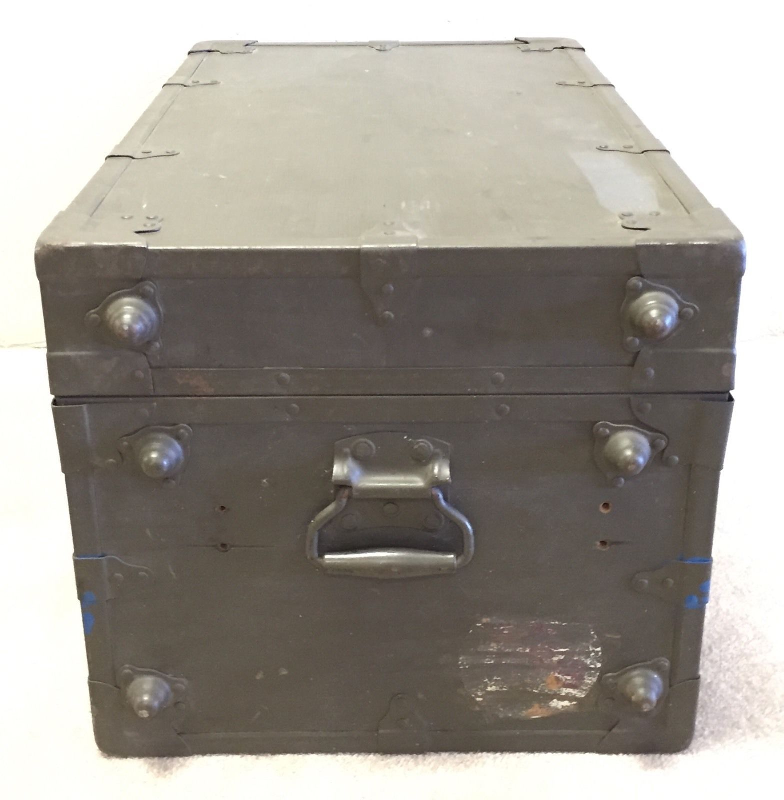 Foot Locker Storage Chest Enchanting Vintage Us Military Army Brown Xray Equipment Foot Locker Trunk Review