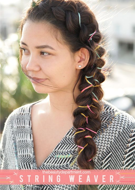 String Braid tutorial is now up! See all the steps as well as some alternative materials to use on thebeautydepartment.com!