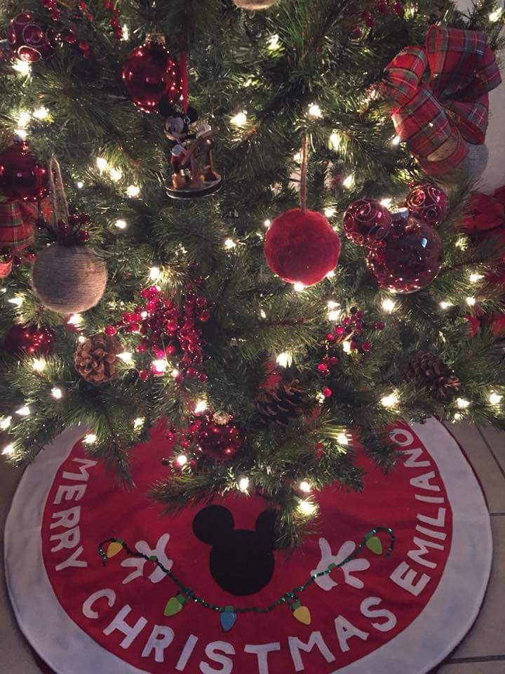 Christmas Tree Skirt Mickey Mouse