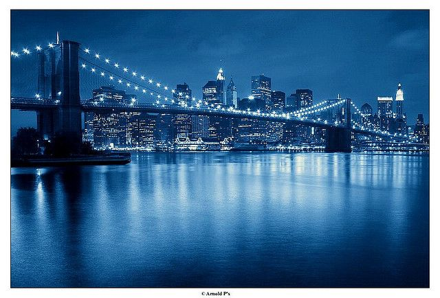 Downtown with a (re)touch of Blue by Arnold Pouteau's, via Flickr