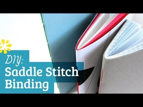super simple! Bookbinding Tutorial: How to Saddle Stitch