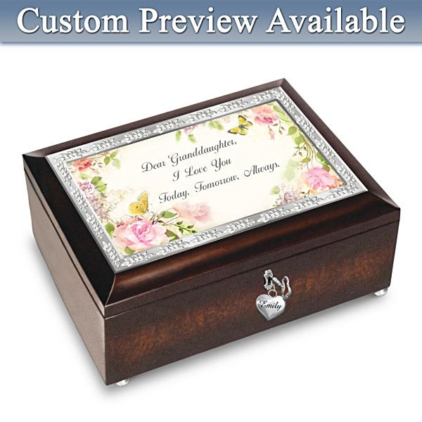 Granddaughter Jewelry Box Enchanting Granddaughter I Love You Always Personalized Music Box Plays U R My