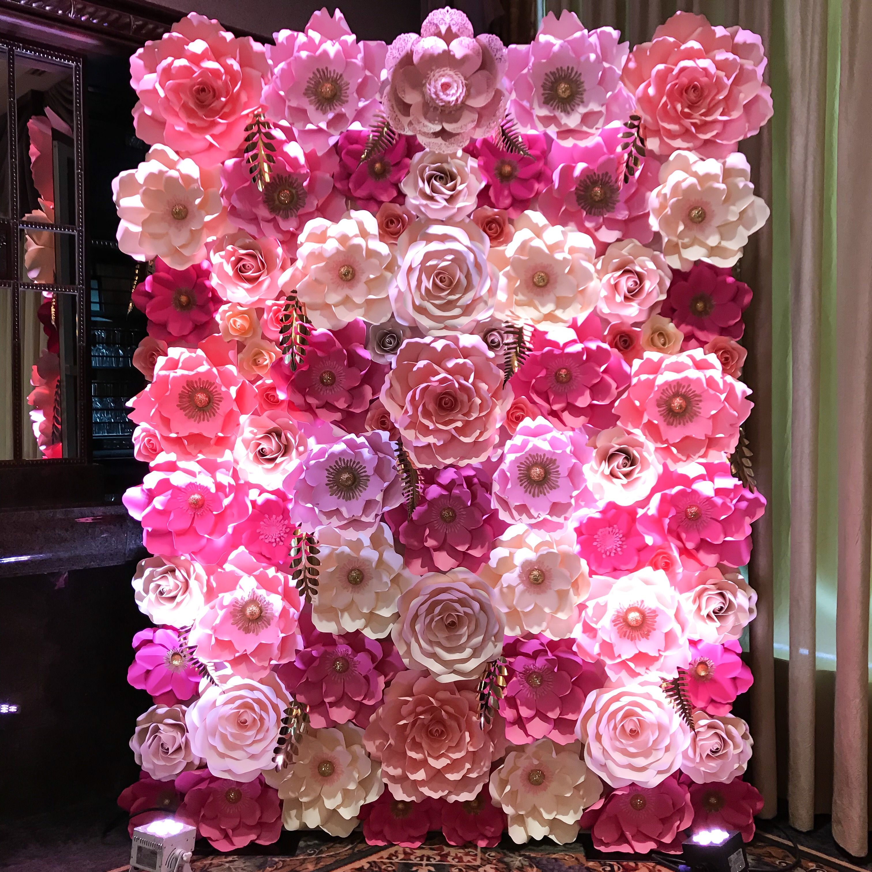 Our Pink deprived Sweet  x Paper Flower Backdrop I had so much