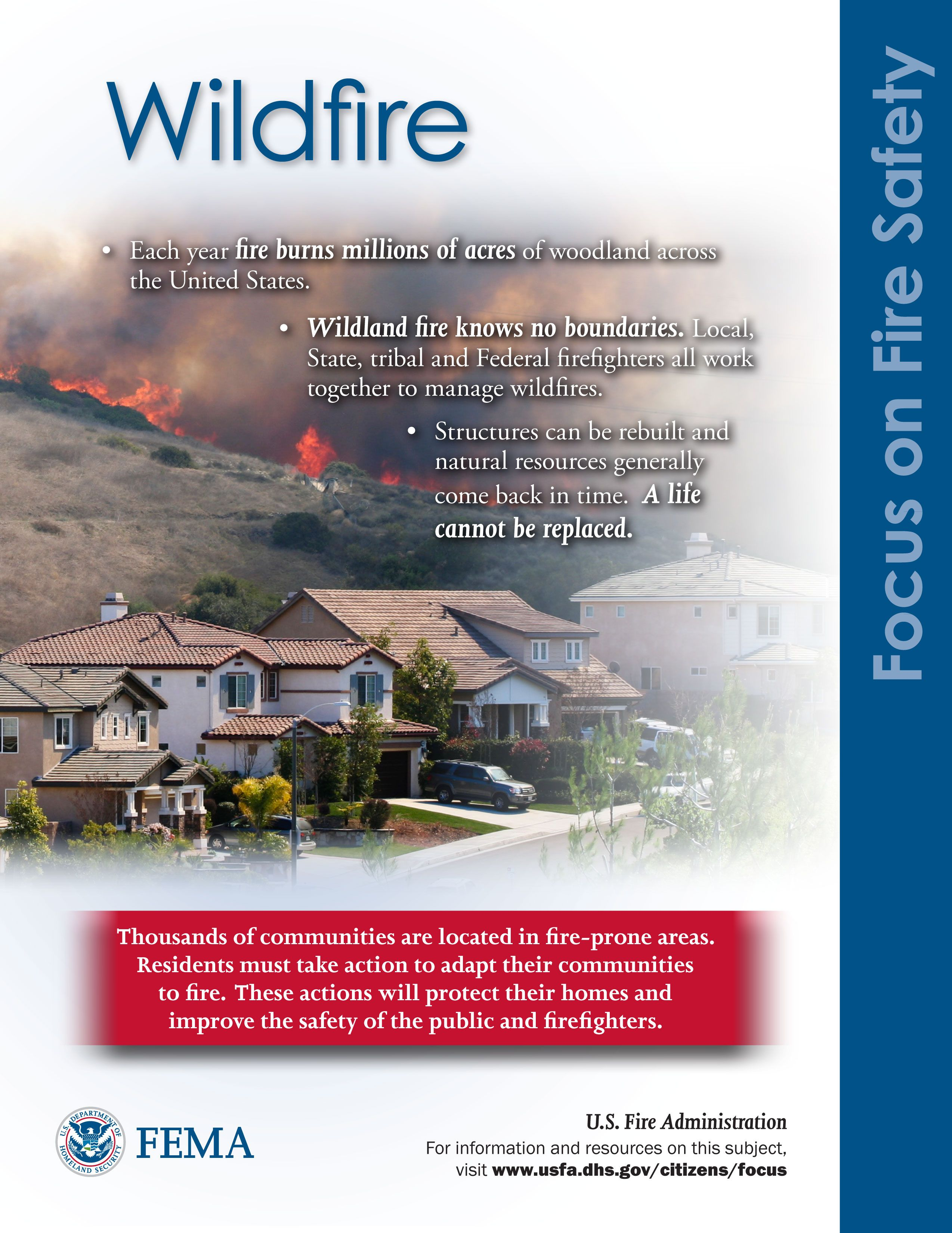 Wildfire Wildland Fire Fire Safety Poster Fire Safety