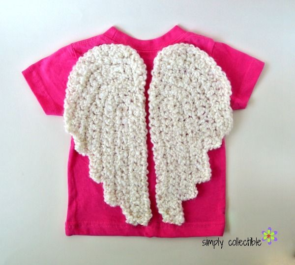 Crochet angel wings free pattern from @SCCelinaLane | TENGO QUE ...