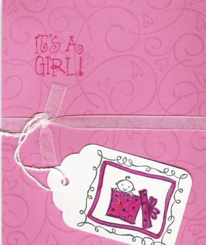 it's a girl - birth announcement by Stampin' Library Girl - Cards and Paper Crafts at Splitcoaststampers