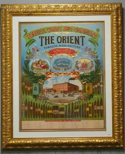 The Orient Tobacco Print with Frame