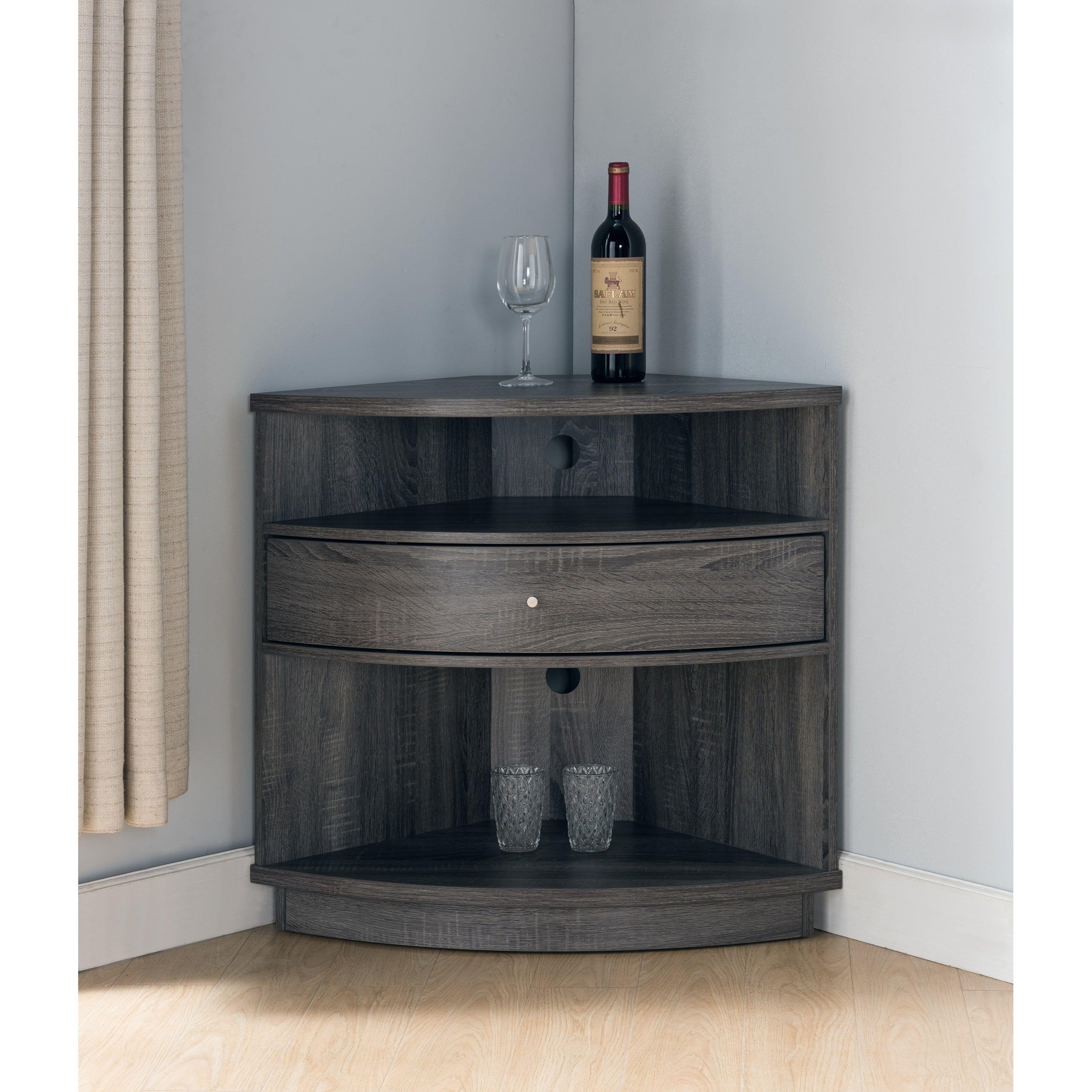 furniture of america aishe contemporary multi shelf corner buffet tv rh pinterest com