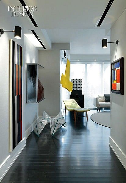 Christopher coleman designed this nyc pied a terre using modernist works see more