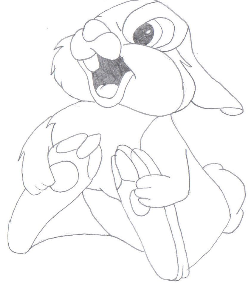 thumper coloring pages for girls  thumper coloring pages