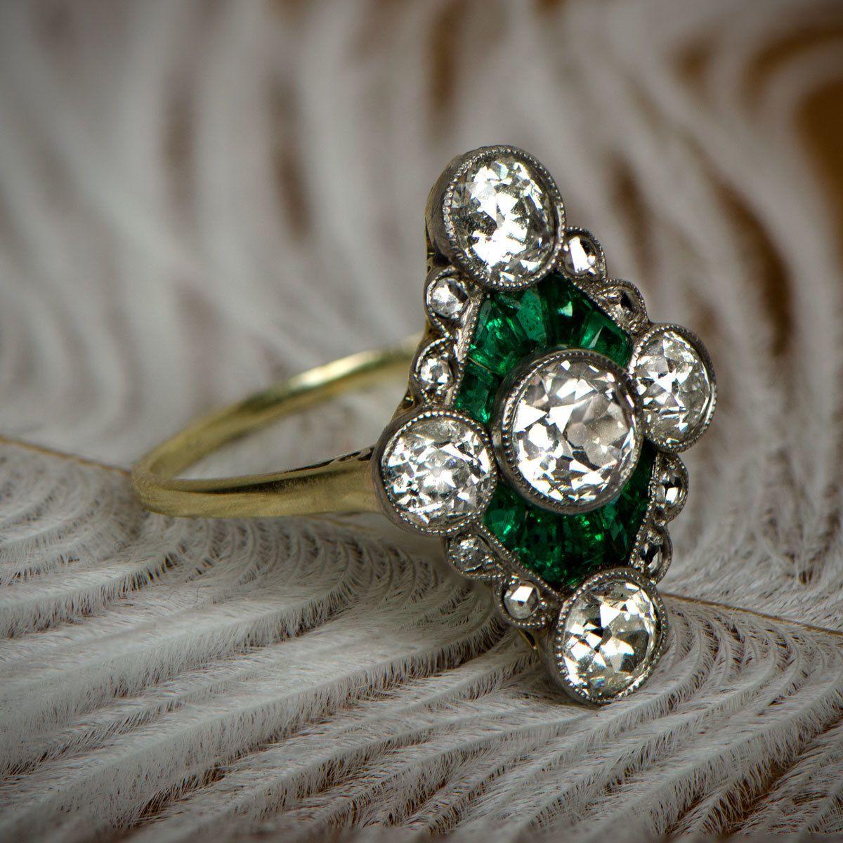 Edwardian Era Ring. Circa 1905 Art deco wedding rings