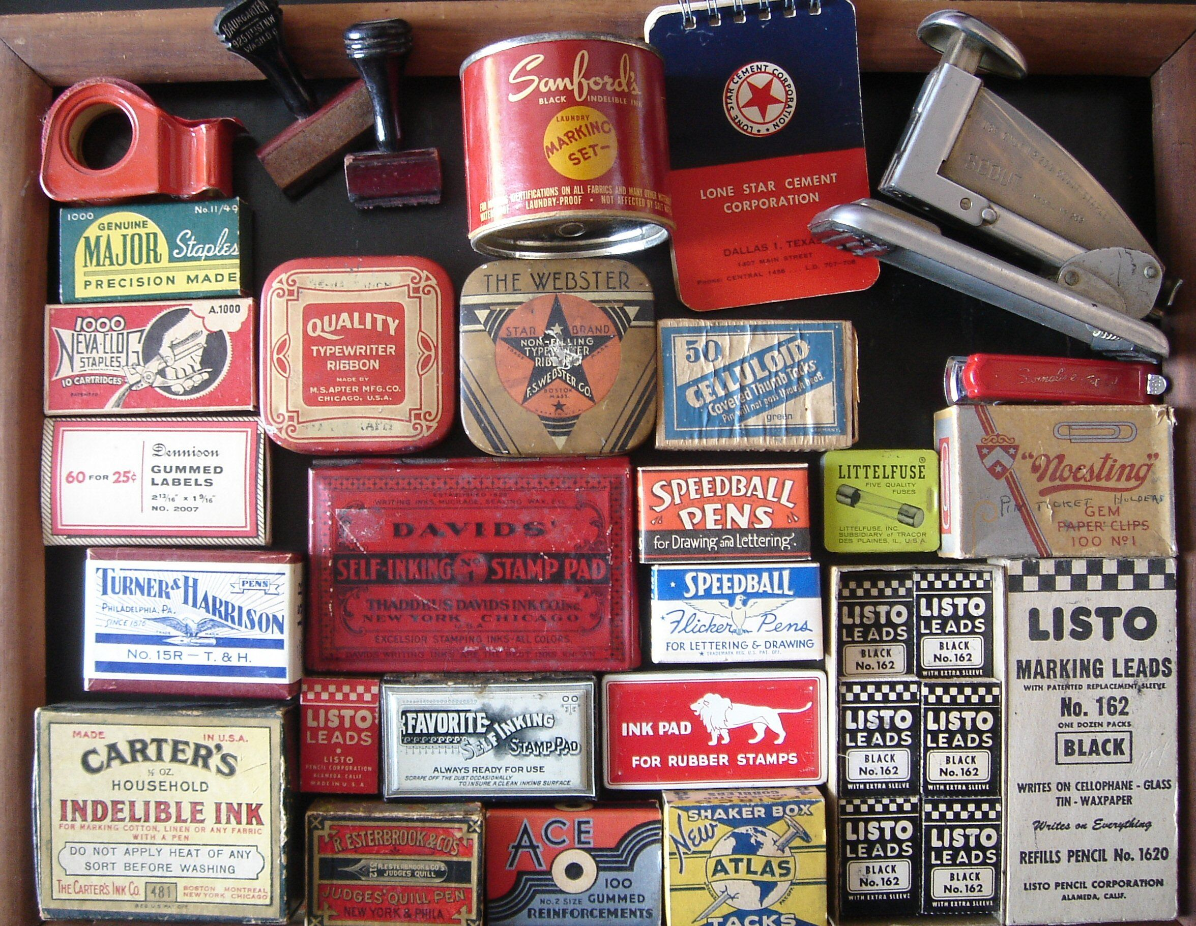 5e8152f84e48d Vintage office supplies | Vintaged | Vintage office, Vintage ...