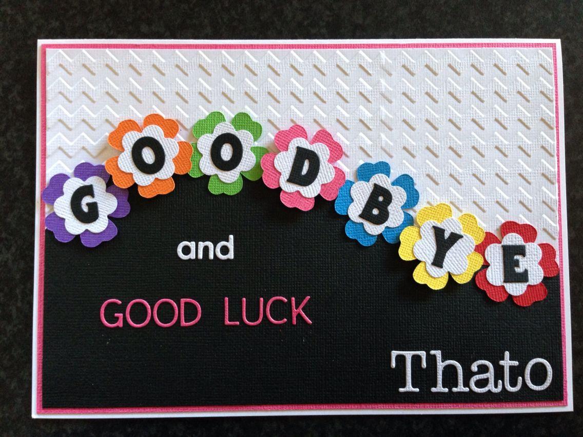 Goodbye Card Good Luck Cards Farewell Cards Goodbye Cards