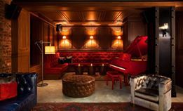 A boutique hotel in Manhattan's Upper West Side, renovated from a historic building, the whole …